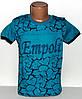 """Детская футболка  на мальчика """" Empoli """"  (выпуклый рисунок) 8,9,10,11,12 лет. морская волна"""