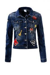 Джинсові куртки, жилетки для дівчаток
