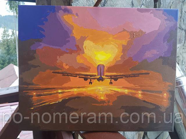 Картина по номерам самолет