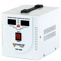 СТАБИЛИЗАТОР РЕЛЕЙНЫЙ (1 Ф) - TDR-2000VA (2кВт) (FORTE)Стабілізатор напруги FORTE TDR-2000VA, релейного типу, фото 1