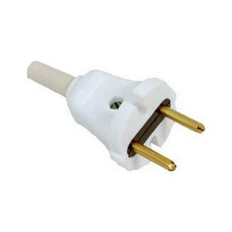 Вилка электрическая евро (без заземления) 6A Код.55883