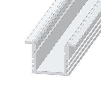 Алюминиевый профиль врезной ЛПВ12*16мм для LED ленты (за 1м) Код.56628