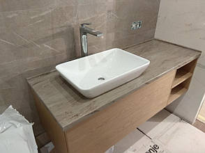 Столешница в ванную из акрила Marble Ocean M705, фото 2