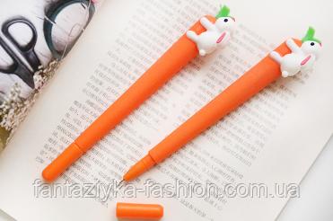 Ручка гелевая Морковка с зайцем