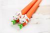 Ручка гелевая Морковка с зайцем, фото 2