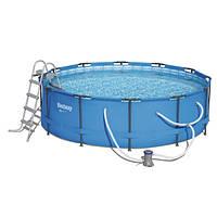 Каркасный бассейн Bestway 56418 (366х100) с картриджным фильтром, фото 1