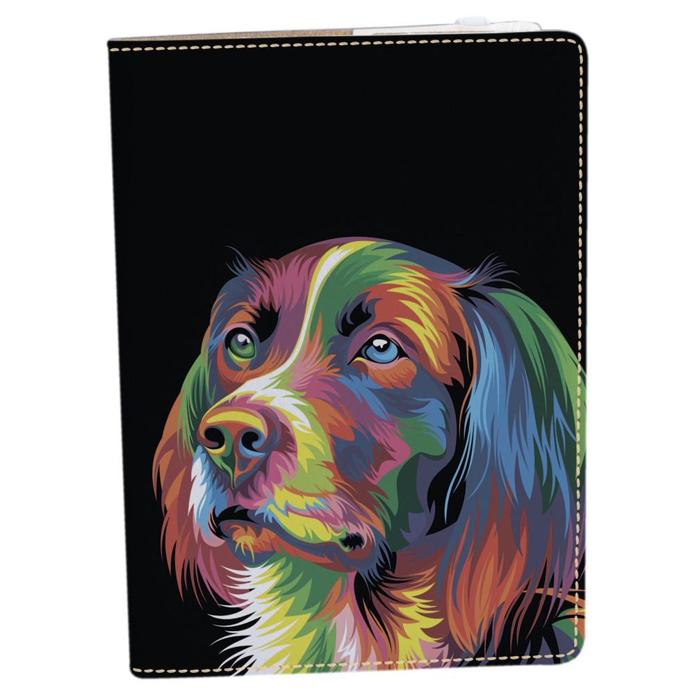 Обложка на блокнот 2.0 A5 Fisher Gifts 718 Разноцветный пес (эко-кожа)