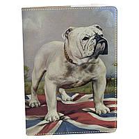Обложка на блокнот v.2.0. A5 Fisher Gifts 889 Брутальный английский бульдог (эко-кожа)