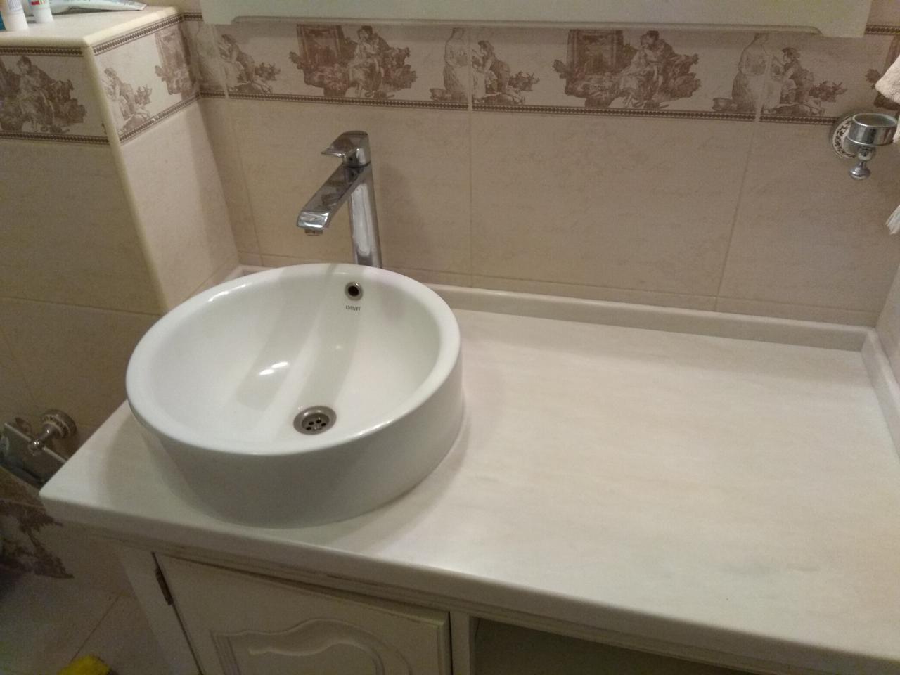 Стільниця у ванну з акрилу Marble Ocean M701