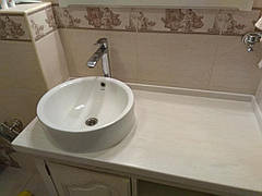 Столешница в ванную из акрила Marble Ocean M701
