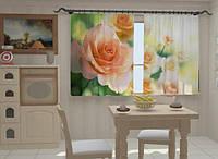Фотоштора Розы в кухне