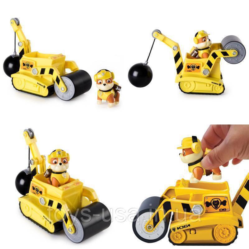 Щенячий патруль Крепыш на строительной машине Rubble Steam Roller Paw Patrol dc23692df73