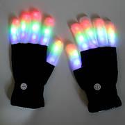 Светодиодные перчатки, светящиеся в темноте, мигающие 6 режимов!