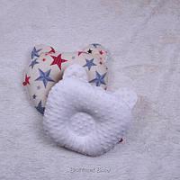 Детская ортопедическая двухсторонняя подушка Minky (молоко)
