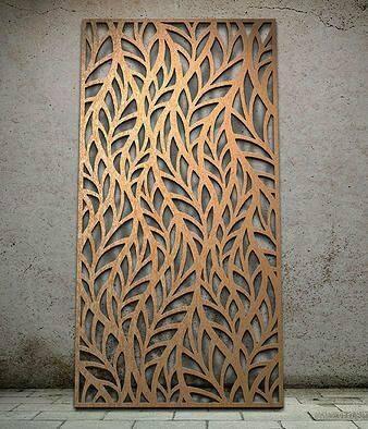 """Интерьерная перегородка """"Листья"""", декоративные панели, деревянные ширмы, резные экраны"""