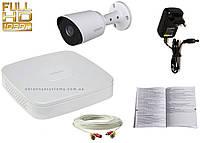 Комплект на 1 наружную видеокамеру Dahua высокого разрешения 2 мП