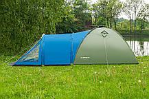 Палатка туристическая Presto Soliter 4, 3500 мм, сине-зеленая, фото 3
