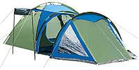 Палатка туристическая Presto Soliter 4, 3500 мм, сине-зеленая