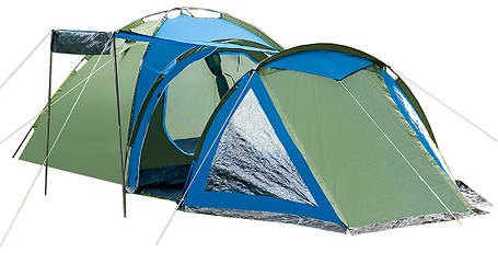 Палатка туристическая Presto Soliter 4, 3500 мм, сине-зеленая, фото 2