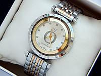 Комбинированные часы Pandora c буквой О серебристого цвета, вращающийся циферблат