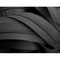 Молния спиральная рулонная Т8 чёрная/хаки (200 метров) (змейка) на метраж (Тип 8)