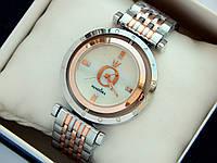 Женские часы Pandora c буквой О, комбинированные, серебро-розовое золото, вращающийся циферблат, фото 1