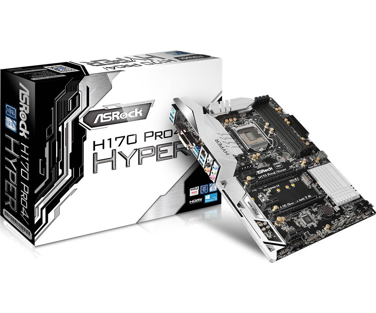 "Материнская плата ASRock H170 Pro4/Hyper s.1151 DDR4 ""Over-Stock"""