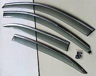 Дефлекторы окон ветровики на VOLKSWAGEN Фольксваген VW Jetta Mk 6 ASP с молдингом нержавеющей стали