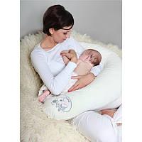 Подушка ТМ Womar велюровая для кормления, для беременных (наполнитель пенополистирольные шарики)