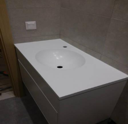 Стільниця у ванну з акрилу LG S034, фото 2