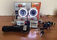 Биксеноновые линзы G5 Би Линзы Cyclon G5 Ultra Plus v.2 с ангельскими глазками и комплектом ксенона+пров.