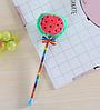 Мягкая плюшевая гелевая ручка арбуз, фото 3