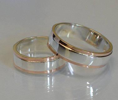 Серебряное обручальное кольцо (Обр 6)