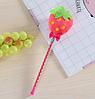 Мягкая плюшевая гелевая ручка клубника, фото 3