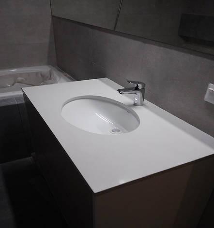 Стільниця у ванну з кварциту АТЕМ White 0011, фото 2