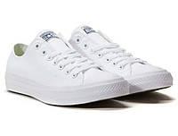 Converse all star 2 II white mono кеды белые конверс низкие  білі низькі моно р. 35-46