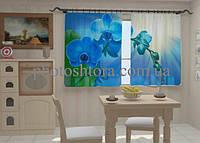 Фотоштора Орхидея в кухне