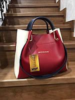 Женская сумка 679КЛ Красный-белый