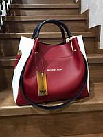 Женская сумка 679КЛ Красный-беж