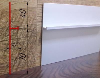 Плинтус алюминиевый под штукатурку ПА-11010 высота 110 мм, 2,7 м, Серебро