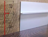 Плинтус алюминиевый под штукатурку ПА-11010 высота 110 мм, 2,7 м, Серебро, фото 1