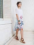 Платье прямого кроя с нежным цветочным принтом и короткими рукавами ЛЕТО, фото 3