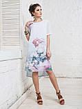 Платье прямого кроя с нежным цветочным принтом и короткими рукавами ЛЕТО, фото 4