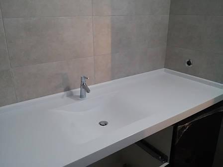 Стільниця у ванну з мийкою з акрилу Tristone F131, фото 2