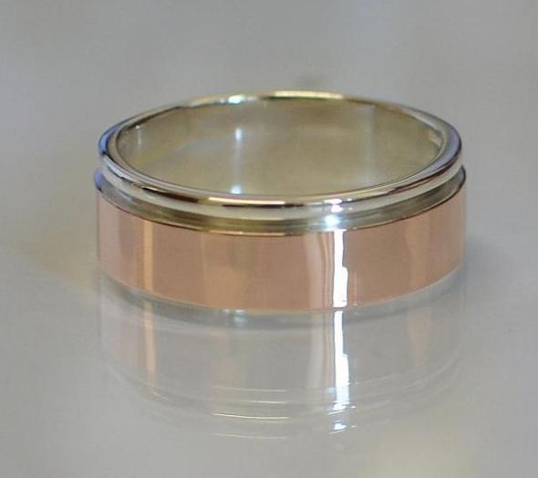 Серебряное обручальное кольцо (Обр 10)