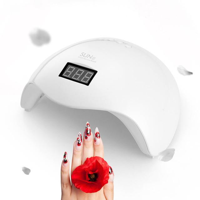 Лампа для нігтів манікюру SUN 5 48W UV led, 48 Вт, Сан 5 гібридна
