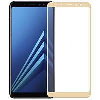 Защитное стекло с рамкой для Samsung Galaxy A8 Plus 2018 A730F, фото 1