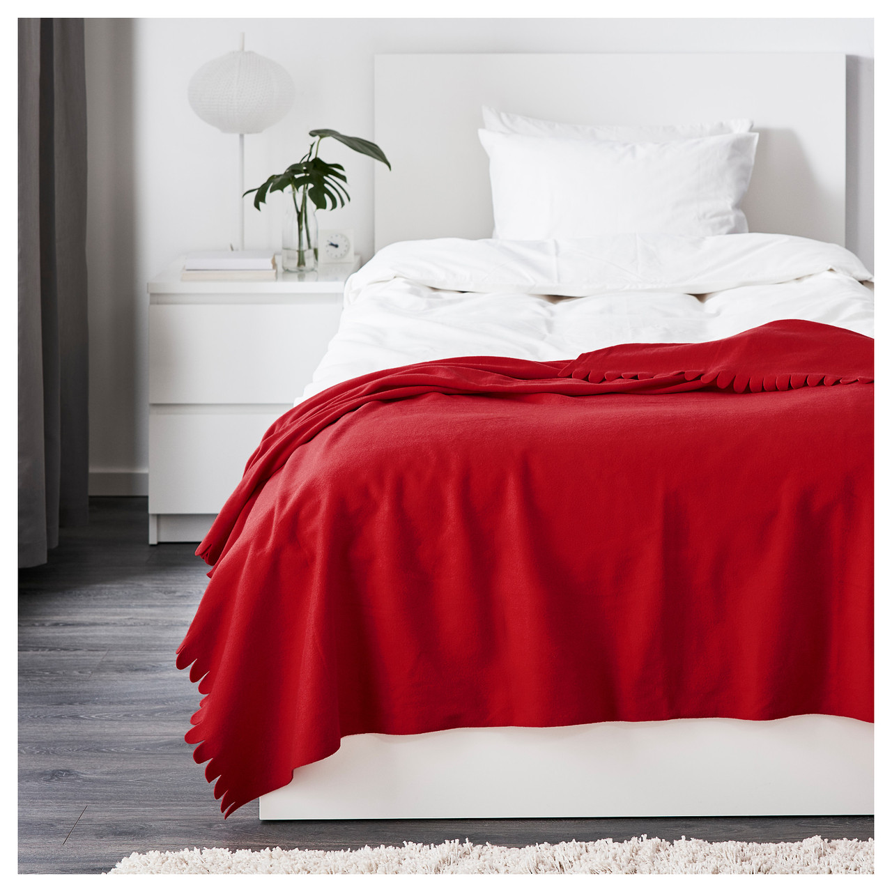 ПОЛАРВИДЕ Плед, красный, 130x170 см 80089927 IKEA, ИКЕА, POLARVIDE
