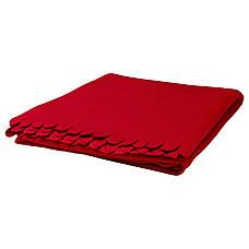 ПОЛАРВИДЕ Плед, красный, 130x170 см 80089927 IKEA, ИКЕА, POLARVIDE, фото 2