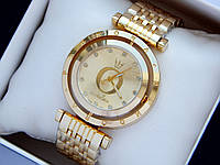 Женские золотистые часы Pandora c буквой О и короной, вращающийся циферблат